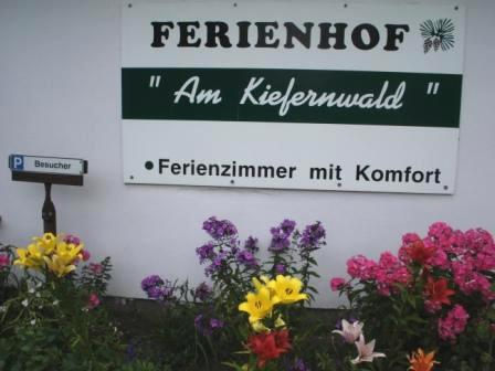 Farbenprächtige Blumenrabatten und Koniferen vor dem Ferienhof-Gästehaus  erfreuen die Sinne. Fotos: Eckart Kreitlow
